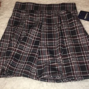 Forever 21- Pleated Flannel Skater Skirt